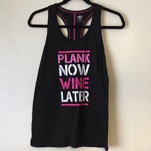 Athletic activewear workout shirt tank top
